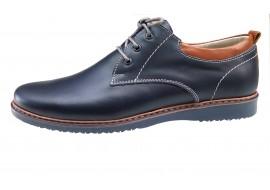 Pantofi barbati sport din piele naturala - R1054BLUE