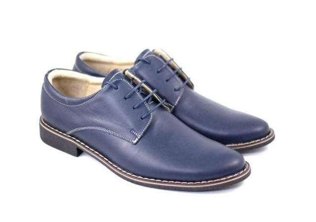 Pantofi bleumarin barbati casual - eleganti din piele naturala Dark Blue