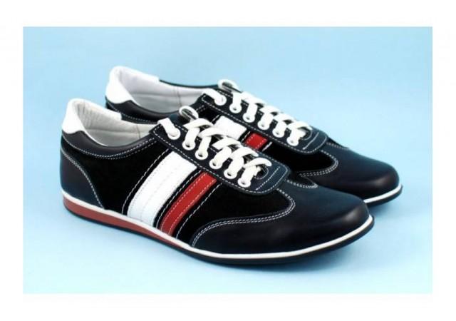 Oferta marimea 40 - Pantofi barbati sport - casual din piele naturala LSANINBOXVEL