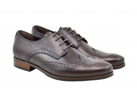 Pantofi barbati de gala, eleganti din piele naturala maro Derby SIRML21