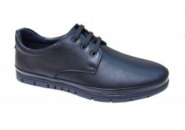 Pantofi barbati casual din piele naturala de culoare neagra - BVS3N