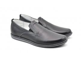 Pantofi barbati casual, sport din piele naturala, cu elastic - TENBOXNE