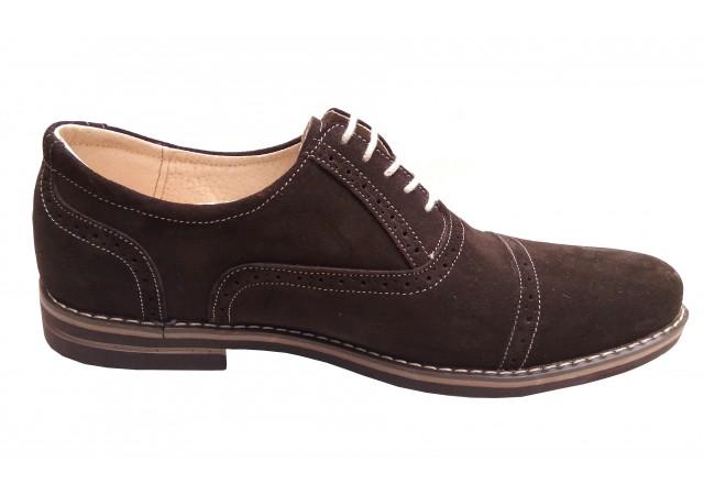 Pantofi barbati casual din piele naturala intoarsa - BVSM14