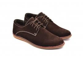Pantofi casual - sport barbati din piele naturala intoarsa 881TENVELM