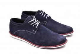 Pantofi casual - sport barbati din piele naturala intoarsa 337VELALBASTRU