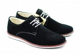 Pantofi casual - sport barbati din piele naturala neagra - 881NVEL