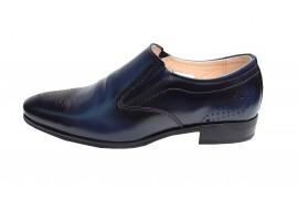 Pantofi eleganti din piele naturala - 893BLUE