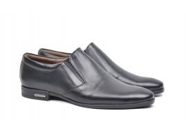 Pantofi barbati negri, eleganti din piele naturala AMON2ELN