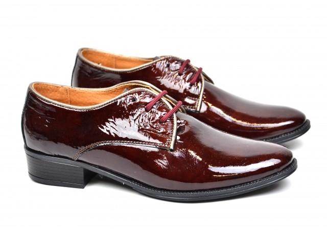 Lichidare marimea 39 Pantofi dama casual din piele naturala grena LDAMALACGRENA