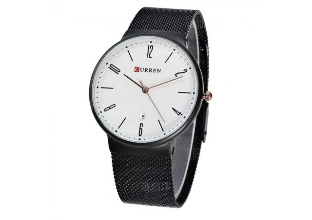 Ceas de mana barbati casual - elegant Curren Black M8257NA