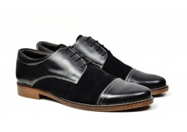 Pantofi barbati casual - eleganti din piele naturala KLAUSS BLACK
