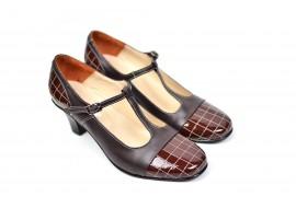 Oferta marimea 36 Pantofi dama piele naturala cu varf lacuit - eleganti - Made in Romania LP50M
