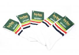 Ciorapi barbati sport din bumbac, set 5 perechi, albi - CS95