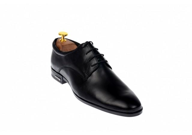 Pantofi barbati negri, eleganti, din piele naturala AMON2N