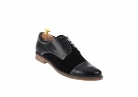 Marimea 45, Pantofi barbati casual din piele naturala, negru L858NSN