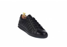 Adidasi barbati sport din piele naturala, negru 348N Fabricat in ROMANIA