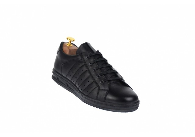 Adidasi barbati sport din piele naturala, negru 348N
