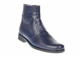 Ghete barbati bleumarin, office, elegante din piele naturala, cu fermoar - GB99BLM