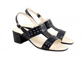 Lichidare marimea 37, 39 Sandale dama din piele naturala, negru box  - LS7NBOX