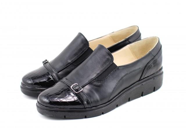 Pantofi dama casual din piele naturala, cu platforme - Made in Romania ROVI24N