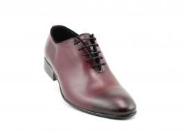 Pantofi barbati lux - eleganti din piele naturala bordo - 024VIS