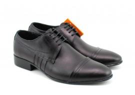 Pantofi barbati eleganti, negri din piele naturala - 032NBOX