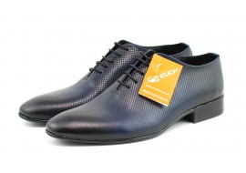 Pantofi barbati eleganti din piele naturala bleumarin - 026BLUE