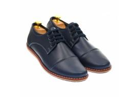 Pantofi casual - sport barbati din piele naturala albastra TENBOX338T