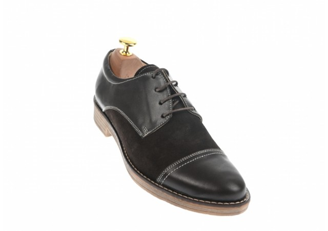Pantofi maro barbati casual - eleganti din piele naturala 858M