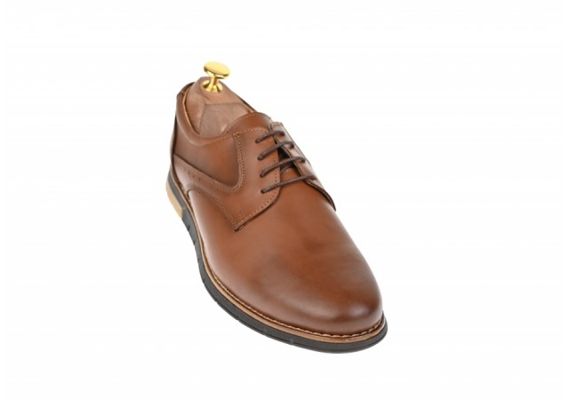 Pantofi barbati casual din piele naturala maro - LUCYANIS 1010MDBOX