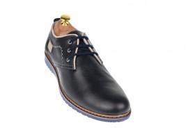 Oferata marimea 42 Pantofi barbati sport - casual din piele naturala bleumarin - LTENSPORT2017BLM