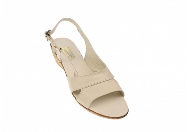 Oferta marimea 37 Sandale dama din piele naturala box - LELIONS2BEJ