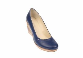 Oferta marimea 39 Pantofi dama casual din piele naturala cu platforma de 7 cm Mara - LP3550BLX2