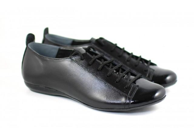 Pantofi dama casual din piele naturala, cu siret, foarte comozi - P09LACN