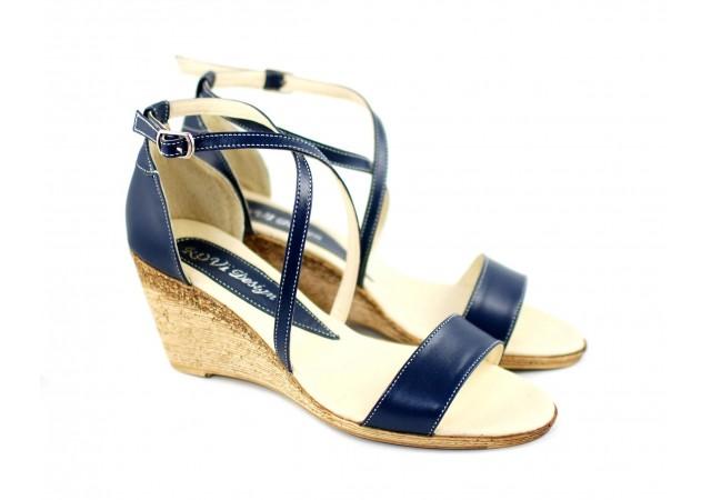 Sandale dama din piele naturala bej - Made in Romania S7BLU
