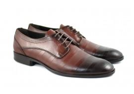 Pantofi barbati eleganti din piele naturala maro - DY745M