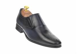 Pantofi barbati eleganti din piele naturala, cu elastic - 889BLM
