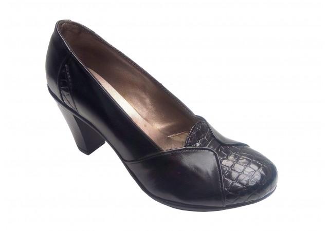 Pantofi dama casual, eleganti din piele naturala - Made in Romania PH46NBOXLAC