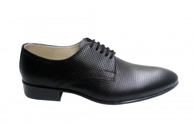 Pantofi barbati lux - eleganti din piele naturala - Negru STD35NPF
