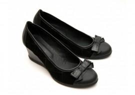 Oferta marimea 37 - Pantofi dama, casual, din piele naturala (Intoarsa), negri -  LZENANVT