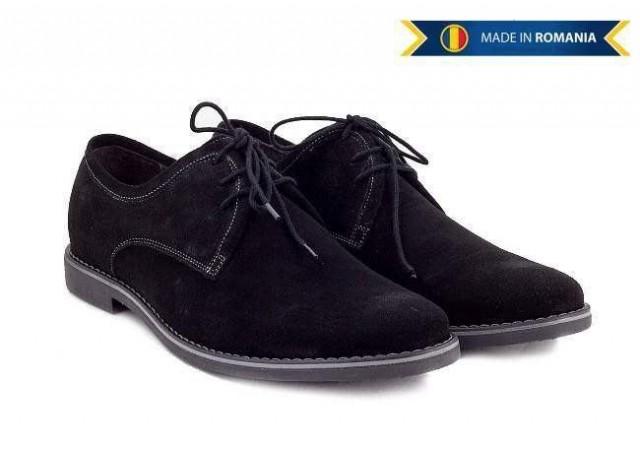 Pantofi barbati casual - eleganti din piele naturala intoarsa - PANVEL