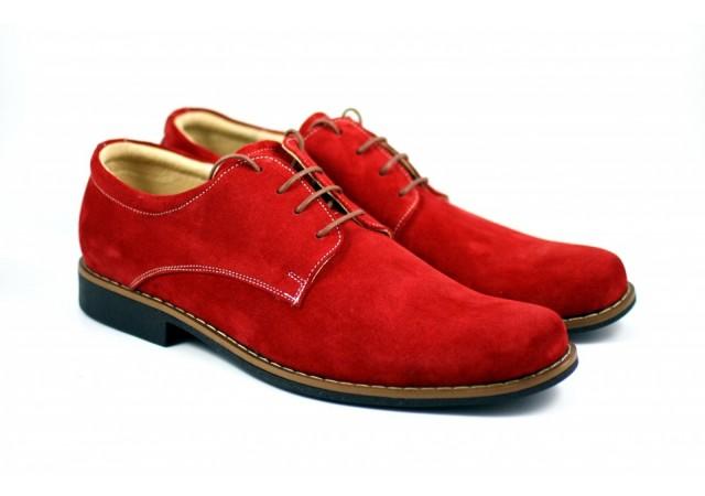 Pantofi barbati casual - eleganti din piele naturala intoarsa - Model RED VERO