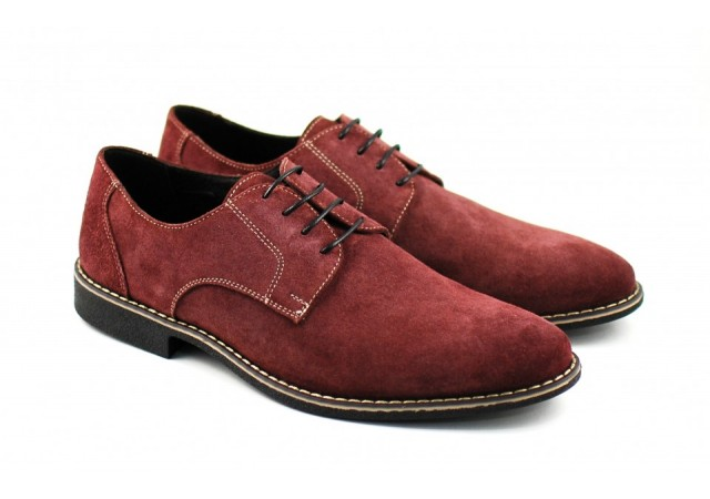 Pantofi barbati casual - eleganti din piele naturala intoarsa VIS - RANY