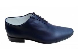 Pantofi barbati eleganti din piele naturala bleumarin - cod STD35BLMBOX
