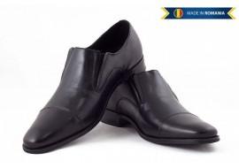 Pantofi barbati eleganti din piele naturala box - Cod: 343N
