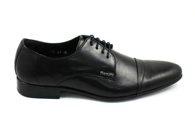Pantofi barbati lux - eleganti din piele naturala negri - cod 535N