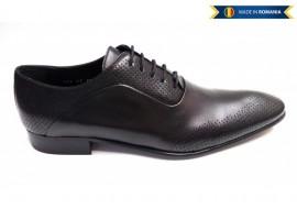 Pantofi barbati eleganti din piele naturala, perforatii cu laser L587N