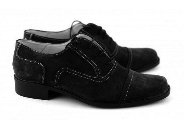 Pantofi barbati eleganti din piele naturala (Intoarsa)  P32N