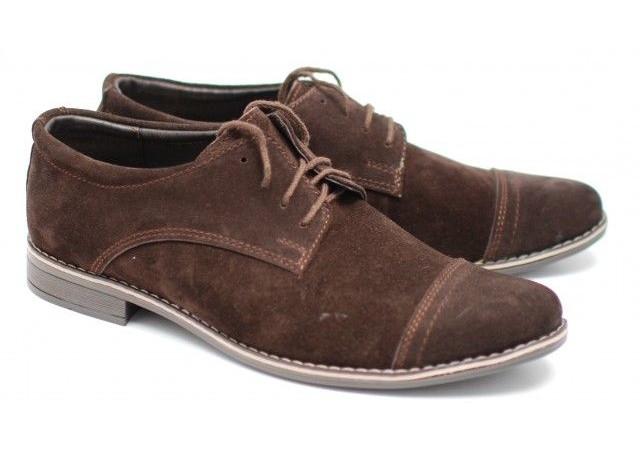 Pantofi barbati eleganti din piele naturala intoarsa EZELVELSMARO