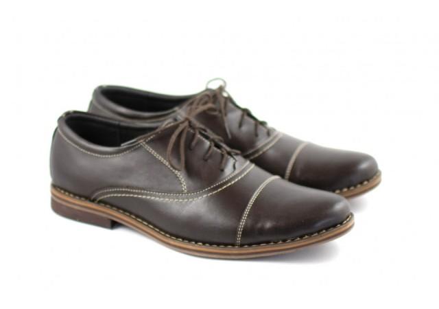 Pantofi maro barbati casual - eleganti din piele naturala EZEL2017MSIRET